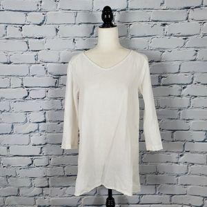 Flax White Linen Tunic